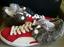 Puma Mens MY-57 Red Classic Faux Fur Sport Sneakers Shoes Size 8 NEW