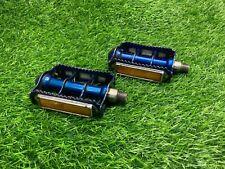 Used 9/16 bmx pedals blue se pk sr sugino suntour vx maxy cross