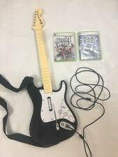 Guitar Hero Xbox 360 GH 2 & Rock Band Games Fender Wired Guitar Bundle