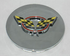 CROSS FLAGS GRAND SPORT CHEVY CORVETTE CHROME WHEEL RIM CENTER CAP 00576SNAP AF