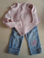 Ding Dong / Liegelind tolle Kombi Herbst Winter Stiefelhose+Pulli Gr. 128