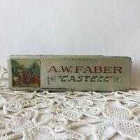 Vintage A.W.Faber Castell Pencil Tin Box Germany Empty