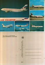 carte postale air charter AIR FRANCE - AIR INTER - AIRBUS BOEING
