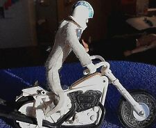 IDEAL 1973 EVEL KNIEVEL STUNT MOTORCYCLE w ACTION FIGURE & HELMET