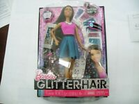 Barbie Glitter Hair Doll  African American Mattel CLG19 NEW IN BOX!