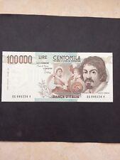 BANCONOTA 100000 LIRE CARAVAGGIO I°TIPO DECR 1/09/1983 FDS Stupenda