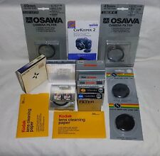 Lot of 9 Photo 49mm Filters and other items see pics Close out sale NR