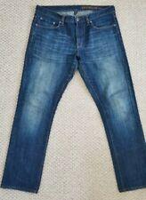 Gap Mens Premium Slim Straight Fit Denim Jeans size W33xL30 Dark Blue Faded