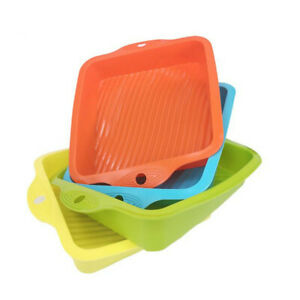 Square Silicone Cake Mold Pan Bread Chocolate Pizza Pastry Baking Tray DIY Mould