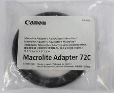 Canon Macrolite Adapter 72C 72mm for MR14 & MT24 Ringlite Canon 72C ML Macro