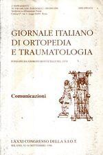 MU20 Giornale italiano di ortopedia e traumatologia Comunicazioni Giugno 1996