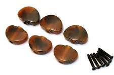 NEW 6 Tortoise Buttons, Screws for Grover Tuners Tuning Pegs Keys TK-7724-043
