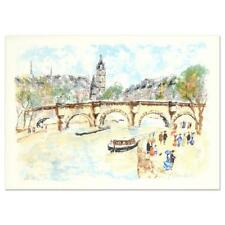 """Urbain Huchet, """"Seine"""" Limited Edition Lithograph, Numbered, Signed  EA  27/50"""