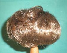 """doll wig dark brown 9.5"""" to 10"""" short /Wancke"""