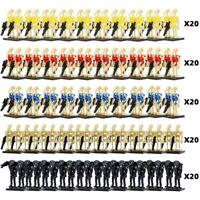 100Pcs Star Wars Battle Droid Minifigures Building Blocks Set Toy For Children