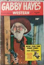 GABBY HAYES WESTERN #1 GD/VG 3.0 FAWCETT 11/1948