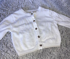 Primark Baby Girls White and Gold Knitted Cardigan 0-3 Months