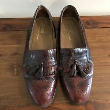 J. Murphy by Johnston & Murphy Wingtip Loafers Black Cherry Shoes Mens 11 M