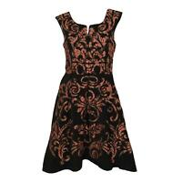 Anthropologie Yoana Baraschi Mirassa Black Coral Dress Sleeveless Women's Size 8