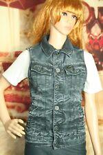 G Star Raw Slim Tailor Jacket sleeveless denim dark wash aged womens size S