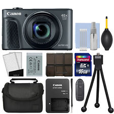 Canon PowerShot SX730 HS 20.3MP Digital Camera 40x Optical Zoom Black + 16GB Kit