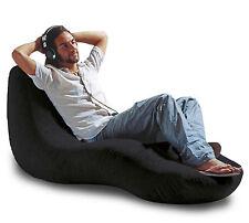 BLACK Tongue lounger bean bag cover
