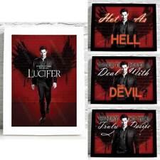 Lucifer Morningstar TV A4 Poster Art Print Quotes Lux Nightclub Tom Ellis Devil