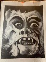 Original Vintage 1970s Dr Evil Traveling Side/Freak Show Poster Very rare!