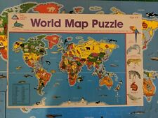 ELC - WORLD MAP PUZZLE - 100 Piece JIGSAW AGE 4 - 8 Years ANIMALS AND MAMMAL