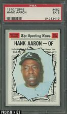1970 Topps #462 Hank Aaron Atlanta Braves HOF PSA 5 EX