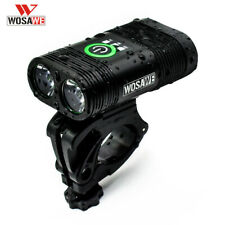 WOSAWE Bicycle Headlight Bike Accessories USB Rechargeable Bicycle Front Light