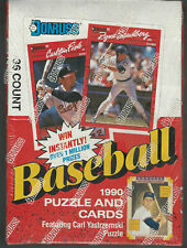 1990 Donruss Baseball Early Printing ERROR Box From Original Factory Sealed Case
