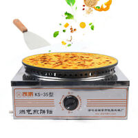 """16"""" Commercial LPG Gas Single Crepe Maker and Pancake Machin"""