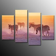 FRAMED Modern Animal zebra Art Print Poster Canvas Painting Home Decoration 4pcs