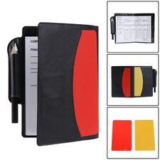 Soccer Referee Wallet Pencil Sports Notebook Sport Match Sheet Red Yellow Card ~