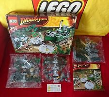 "LEGO Indiana Jones ""JUNGLE CUTTER"" 3 New Sealed Bags Manual Opened Damaged Box"