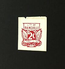 Alabama State Revenue - 2 cents City of Rainesville - Cigarette Tax - AL