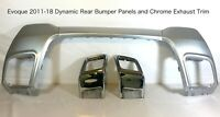 Silver Rear Bumper Tow Eye Kit Inc Chrome Exhaust Tips Fits: RR Evoque 2011-18