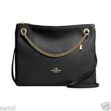Coach F52901 Black Pebbled Leather Convertible Crossboby Bag Brand New Jeptall