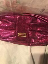 Victoria's Secret Pink Bling Zipper Close  Clutch Bag Purse Makeup