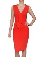 Dsquared 2 Orange Tie-neck Jersey Stretch, Bodycon Dress SZ SMALL NEW