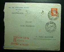 1938  ITALIA  1,75 lire   viaggiata   BO  - FE    raccomandata