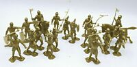 Lot of 20 Piece - Classic Toy Soldiers - Marx Reissue Knights in Gold Color
