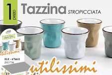 SET 6 TAZZINE CAFFE' STROPICCIATE IN PORCELLANA COLORATE 6 CM ILE-676611