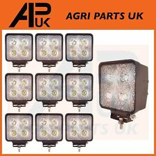 10 CREE LED 40W Work Light Lamp Flood Beam 12V 24V Tractor Digger 4WD JCB Lorry