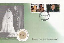 (43431) Togo FDC Queen Royal Golden Wedding  25 June 199