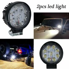 2PCS 4INCH 27W Round LED WORK LIGHT BAR Spot OFFROAD DRIVING FOG LAMP 12V USA
