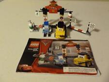 Lego 8206 Cars 2 Tokyo Pit Stop Set Minifigures 100% Complete Manual Pixar
