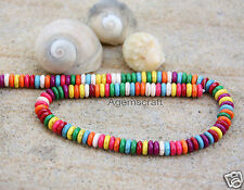 50 mixed colour Howlite rondelle disc shaped beads 10x3mm Craft Design beading