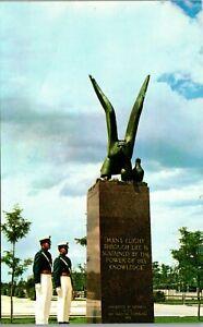 Colorado~US Air Force Academy~Airmen~Bronze Eagle Vintage Postcard MM
